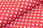 Mobile Preview: Baumwoll-Jersey - Verena - Dots Punkte (ca 1 cm) auf burgundy / rot dunkel (338)