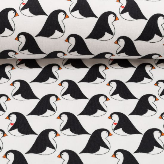 "Sommer-Sweat ""Love the Penguin"" by Cherry Picking - Pinguine, weiß"